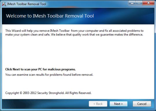 Imesh Removal Tool