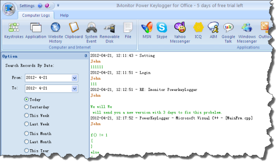 IMonitor Power Keylogger for Office