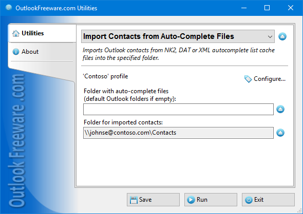 Import Contacts from Auto-Complete Files for Outlook