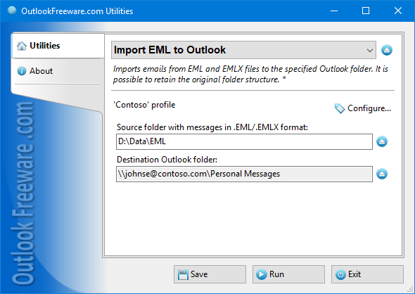 Import EML to Outlook