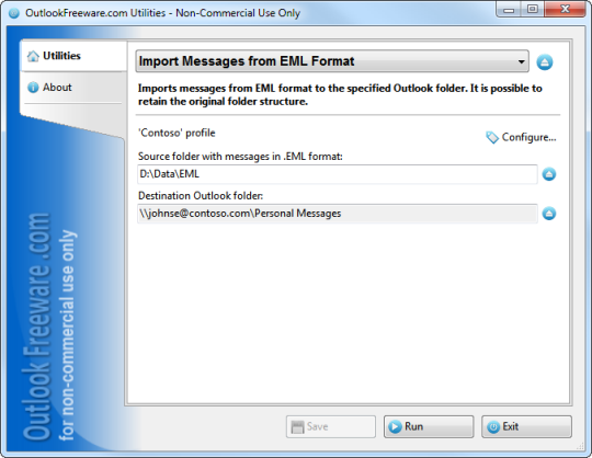 Import Messages from EML Format