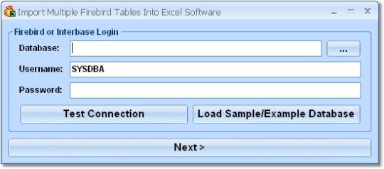 Import Multiple Firebird Tables Into Excel Software