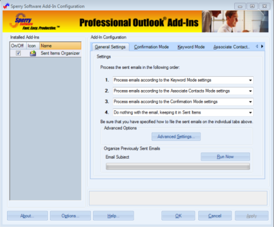 Incoming Mail Organizer for Outlook 2010 (64-bit)
