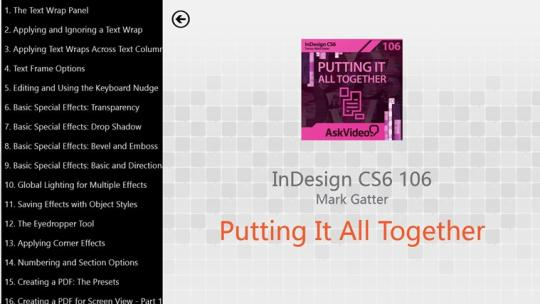 InDesign CS6 106 - Putting It All Together