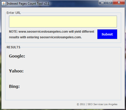 Indexed Pages Count Tool