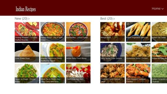 Indian Recipe for Windows 8