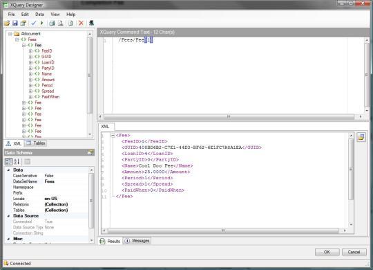 Indigo DXQ Data XQuery Designer
