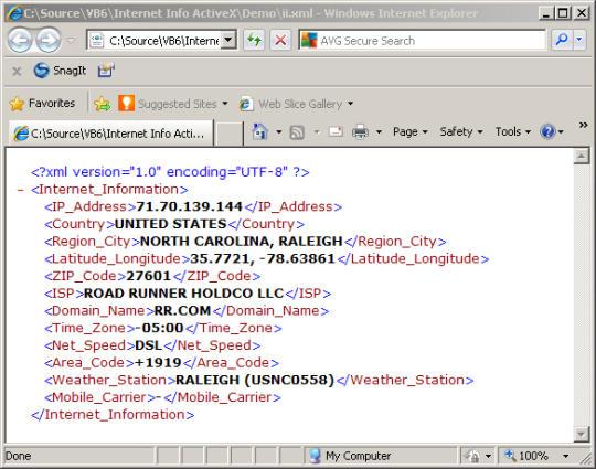 Internet Information ActiveX DLL