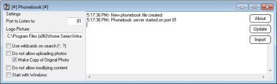 Intranet Phonebook