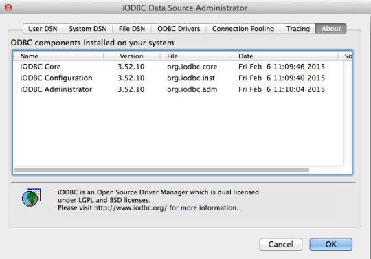 iODBC Driver Manager, Administrator, SDK