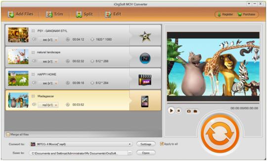iOrgSoft MOV Converter