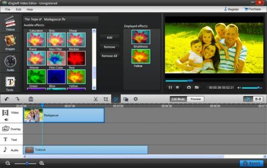 iOrgsoft Video Editor