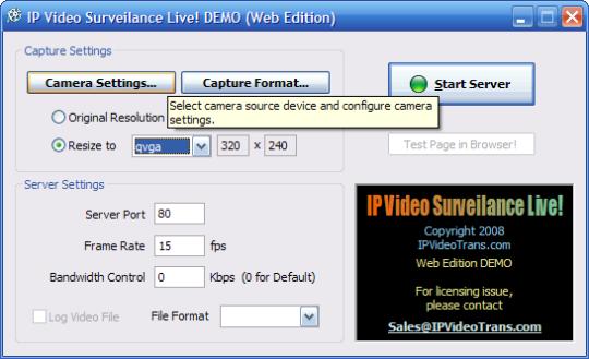 IP Video Surveillance Live Web Edition