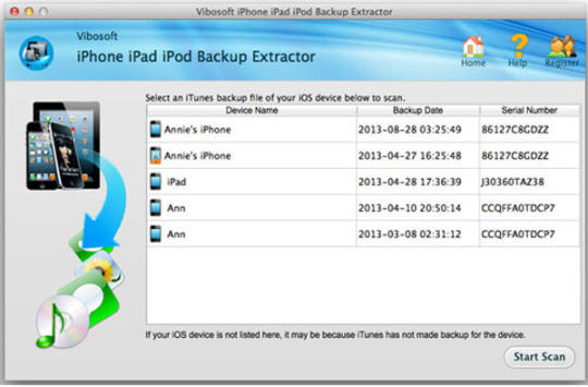 iPhone iPad iPod Backup Extractor