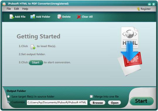 iPubsoft HTML to PDF Converter