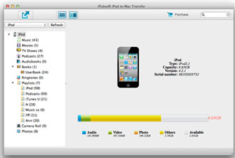 iPubsoft iPod to Mac Transfer