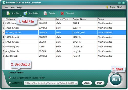 iPubsoft MOBI to ePub Converter