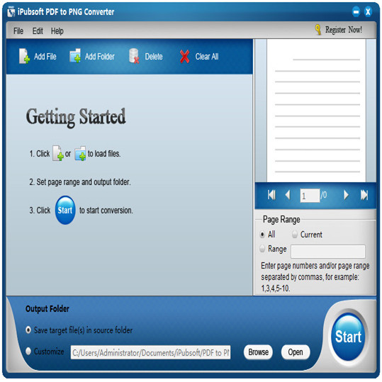 iPubsoft PDF to PNG Converter