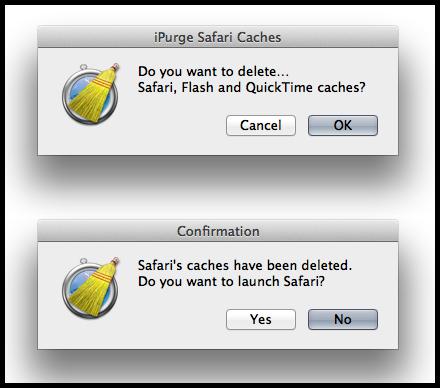 iPurge Safari Caches