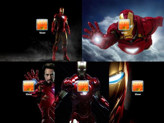 Iron Man Logon Screen