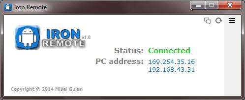 Iron Remote Server