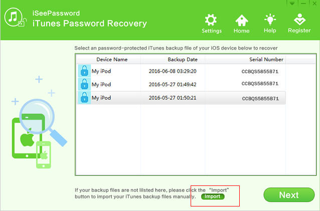 iSeePassword iTunes Password Recovery