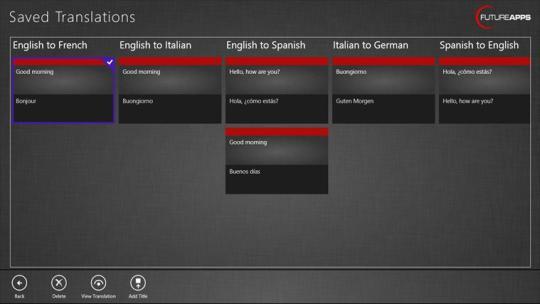 iSpeak Translator for Windows 8