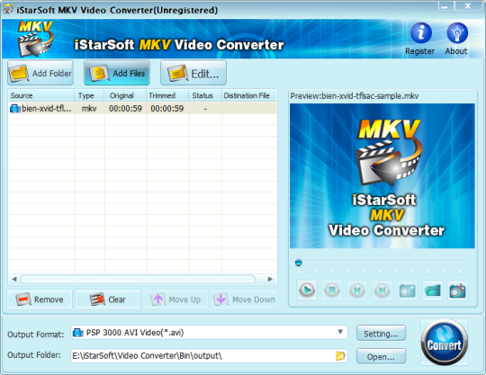 iStarSoft MKV Video Converter