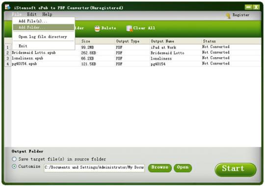 iStonsoft ePub to PDF Converter