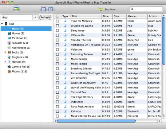 iStonsoft iPad/iPhone/iPod to Mac Transfer
