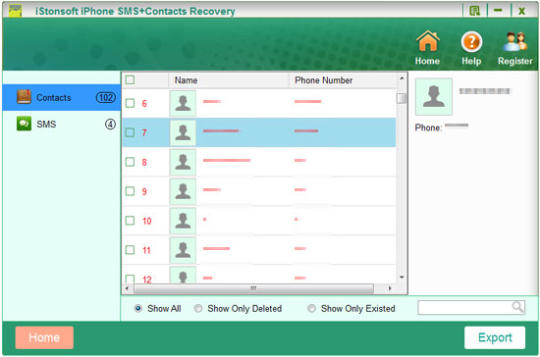 iStonsoft iPhone SMS+Contacts Recovery