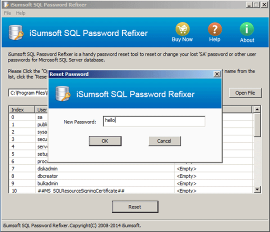 iSumsoft SQL Password Refixer
