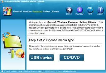 iSumsoft Windows Password Refixer Ultimate