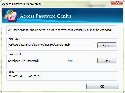 iSunshare Access Password Genius