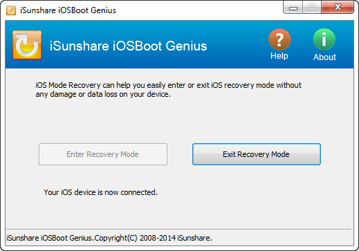 iSunshare iOSBoot Genius