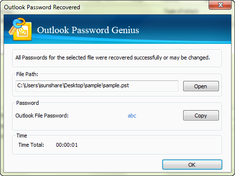 iSunshare Outlook Password Genius