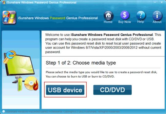 iSunshare Windows Password Genius Professional