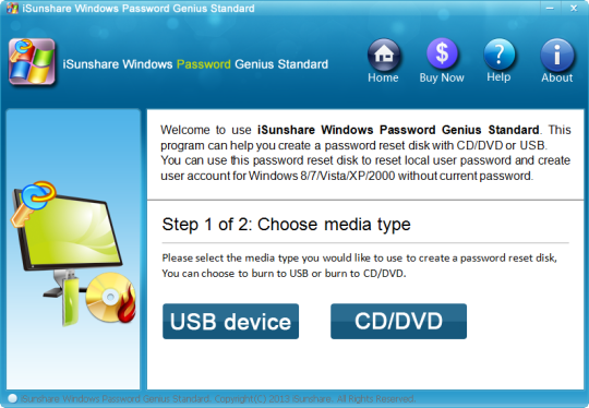 iSunshare Windows Password Genius Standard