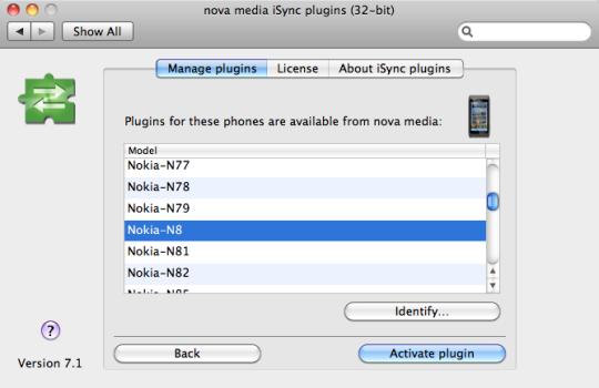 iSync plugins
