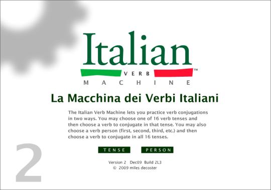 Italian Verb Machine