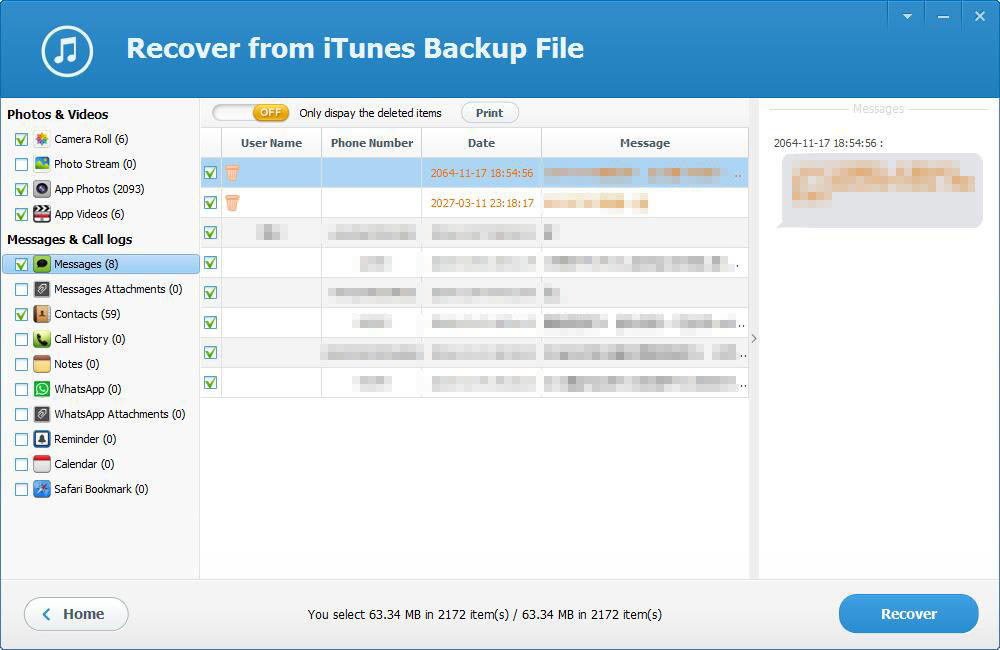iTunes Backup Extractor Free Edition