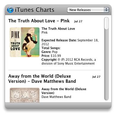 iTunes Charts