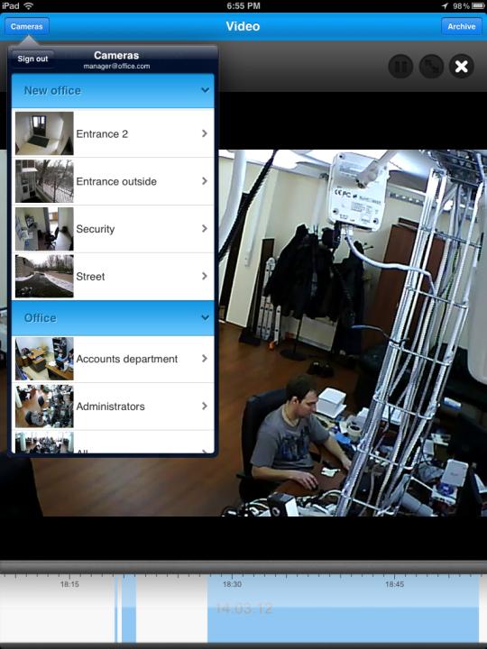 تحميل مجاني Ivideon Video Surveillance إلى Mac ::: برامج الفيديو