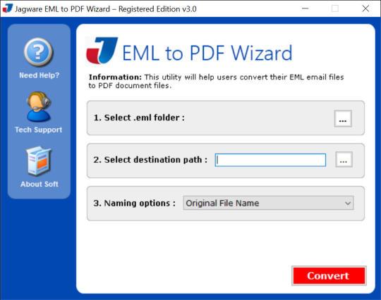 Jagware EML to PDF Wizard