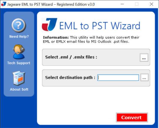 Jagware EML to PST Wizard
