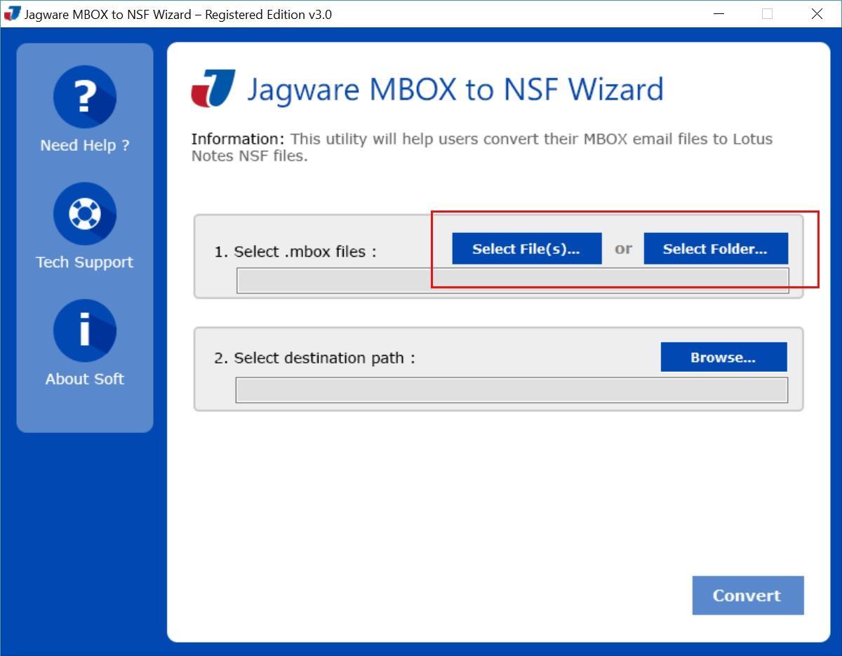 Jagware MBOX to NSF Wizard