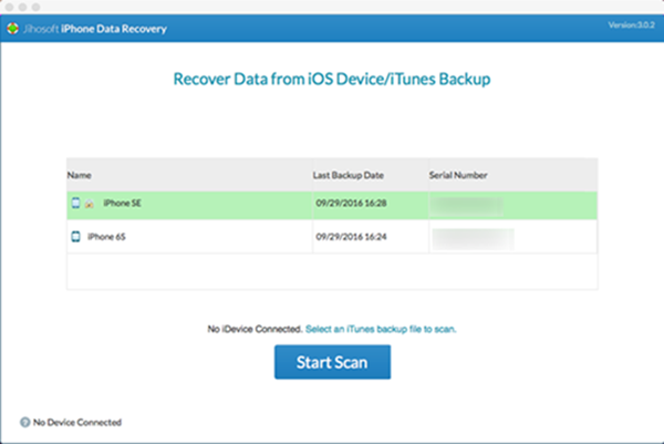 Jihosoft iPhone Data Recovery for Mac
