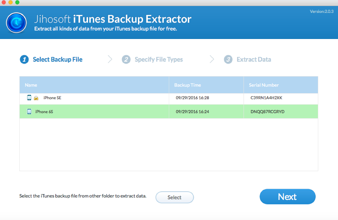 Jihosoft iTunes Extractor