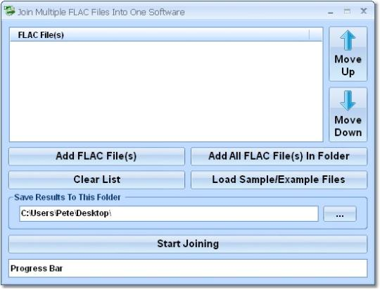 Join Multiple FLAC Files Into One Software