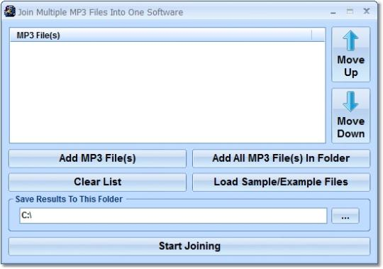 Join Multiple MP3 Files Into One Software
